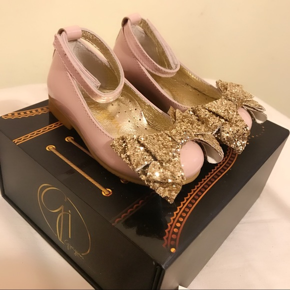 baby gold shoes